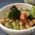 Chickpea Hominy Broccoli Bake