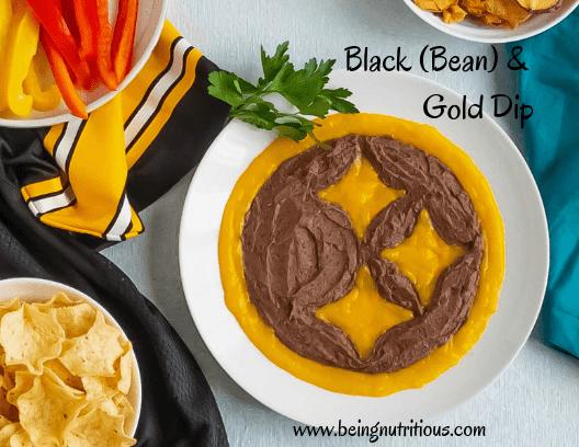 Black bean and mango dip.