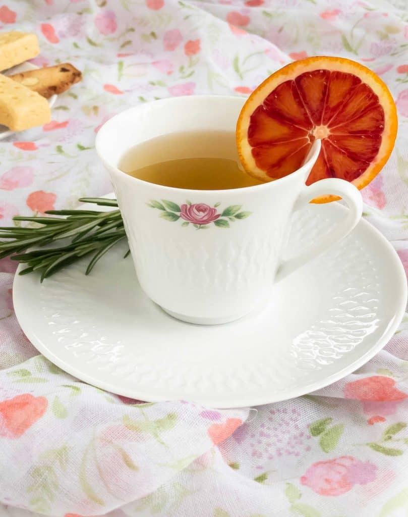 Rosemary Mint Tea Close up