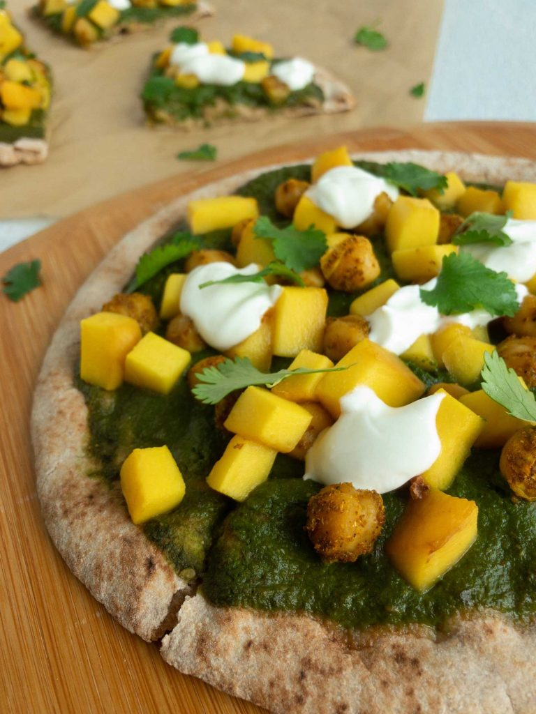 Curry Chickpea Mango Pizza