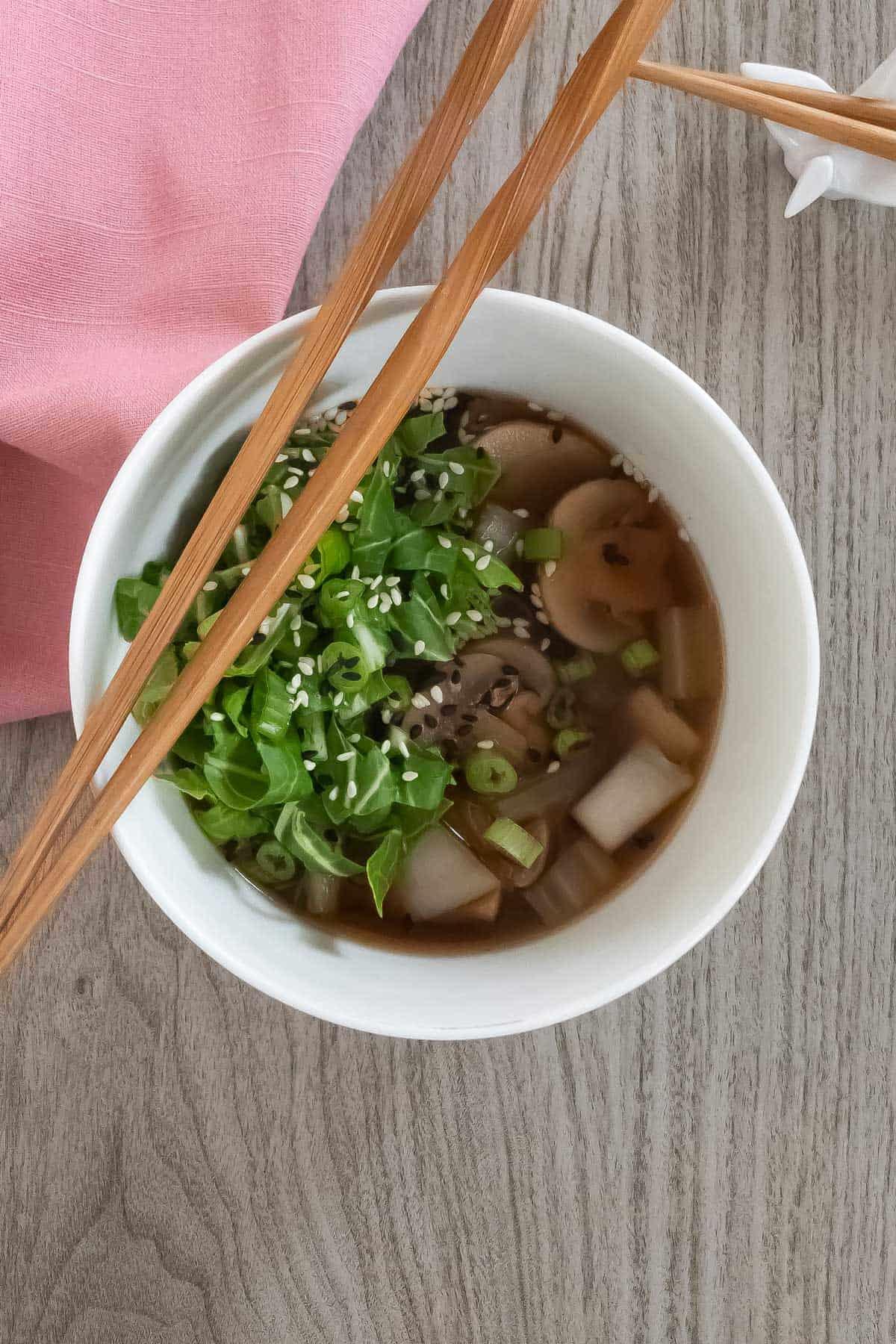 Bok Choy Miso Soup