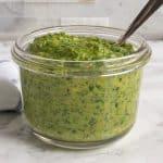 Arugula Pistachio Pesto in a jar