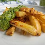 Roasted Parsnips close up