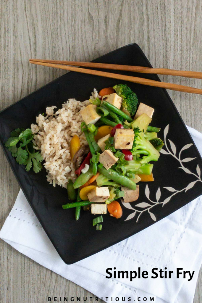 Simple stir fry pinterest graphic