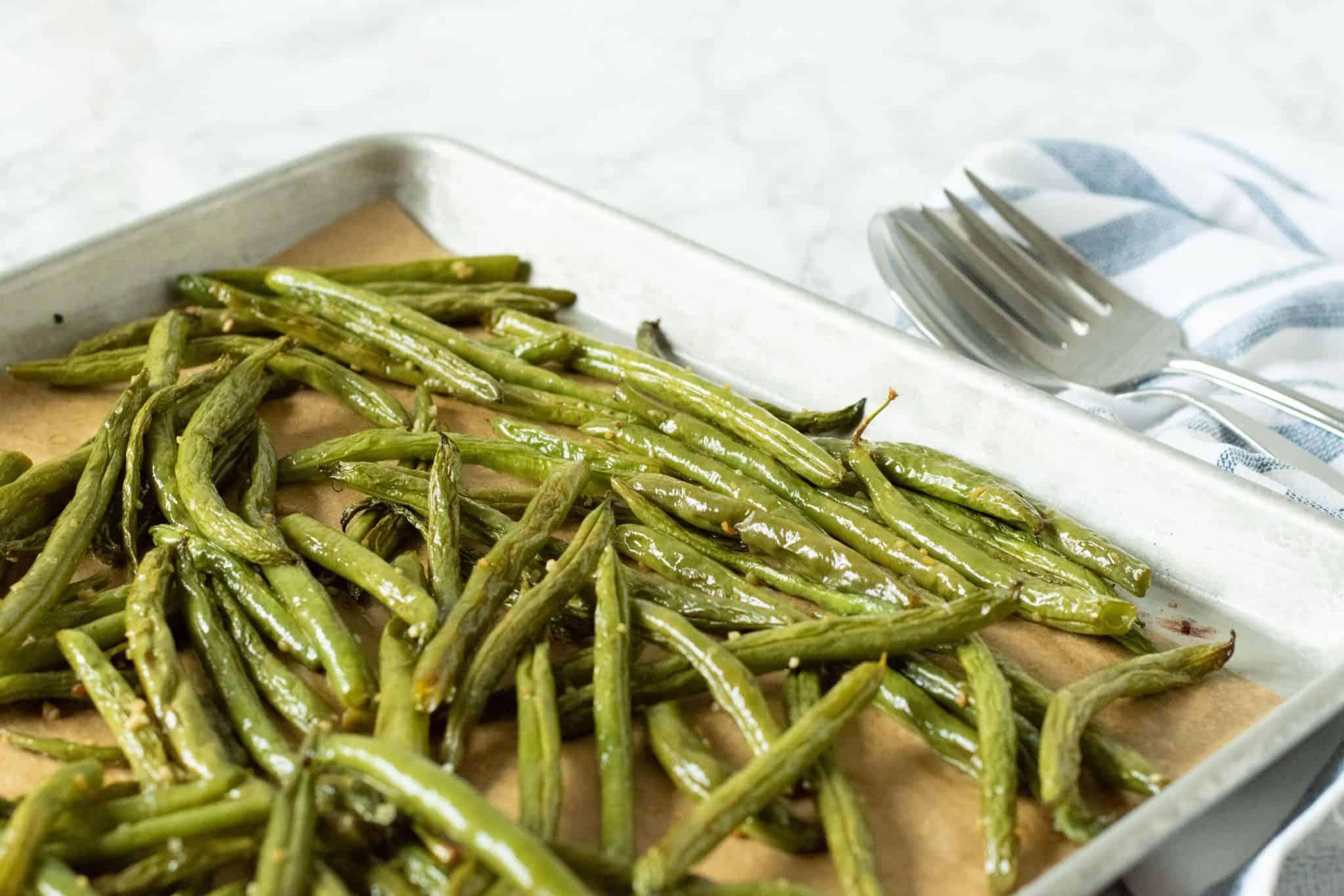 Garlic Roasted Green Beans 4