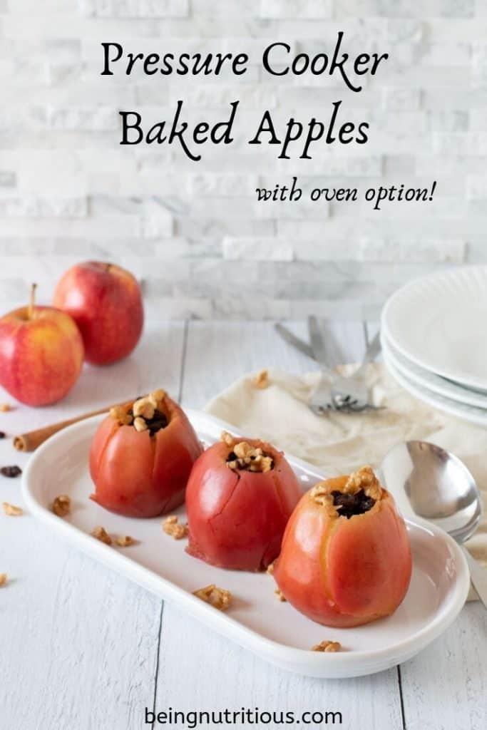 Pressure Cooker Baked Apples