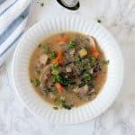 Creamy Mushroom Kale and Wild Rice Soup