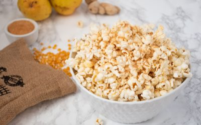 Gingered Pear Stovetop Popcorn