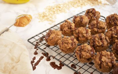Peanut Butter Banana Mini Muffins
