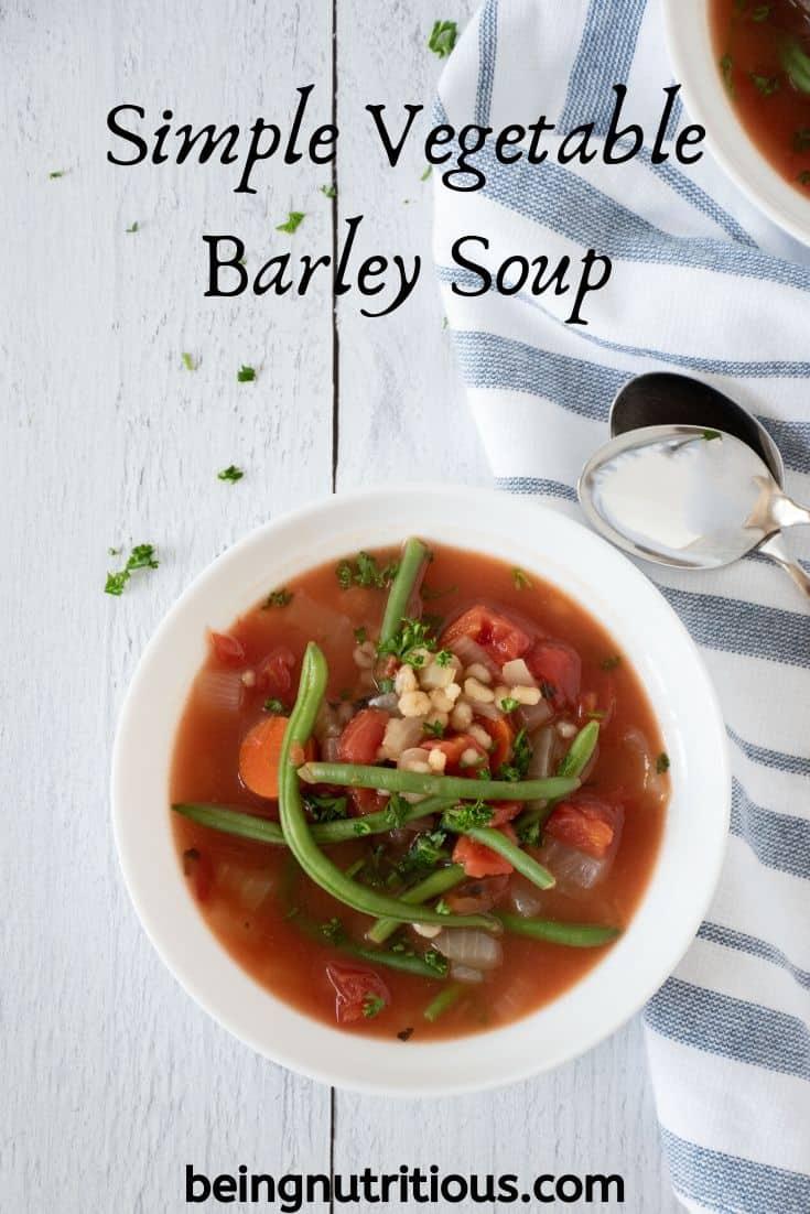 Simple Vegetable Barley Soup