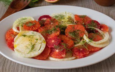Broiled Grapefruit & Fennel Salad with Honey Mint Vinaigrette