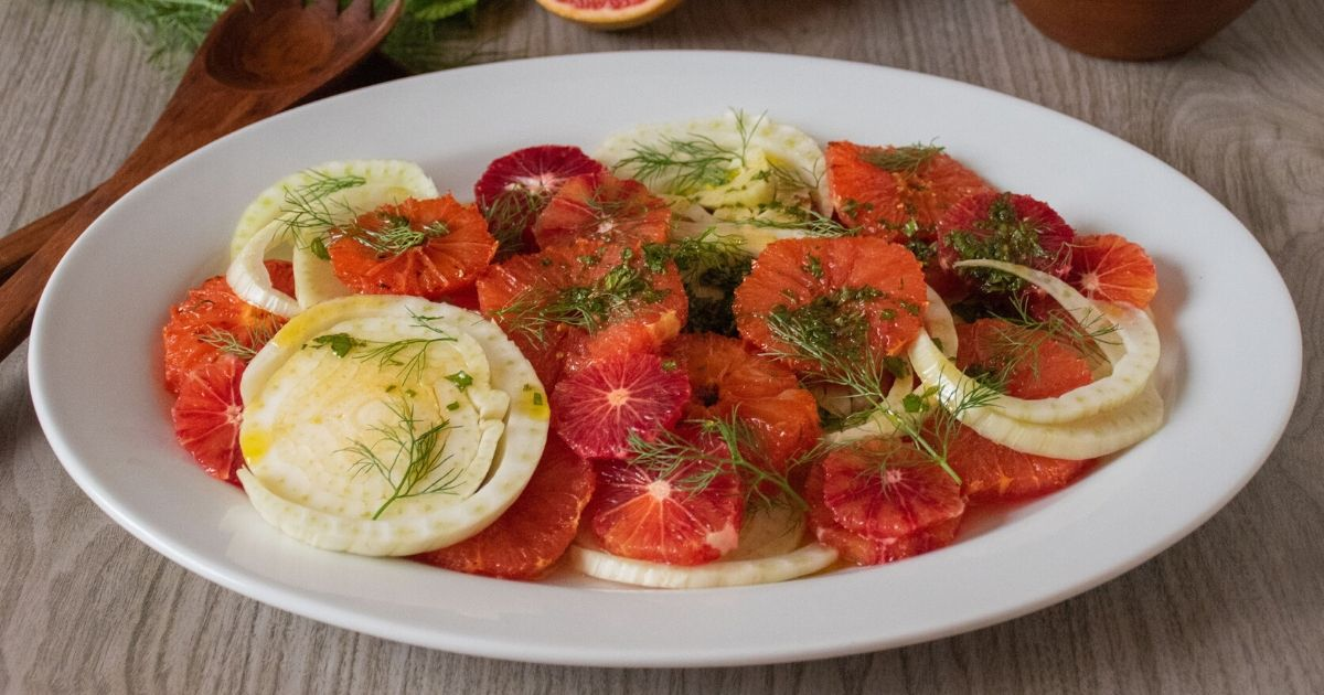 Broiled Grapefruit Fennel Salad