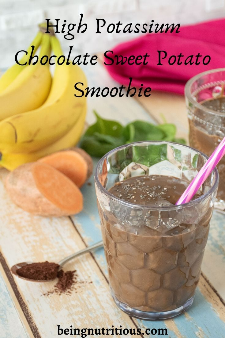 High Potassium Chocolate Sweet Potato Smoothie