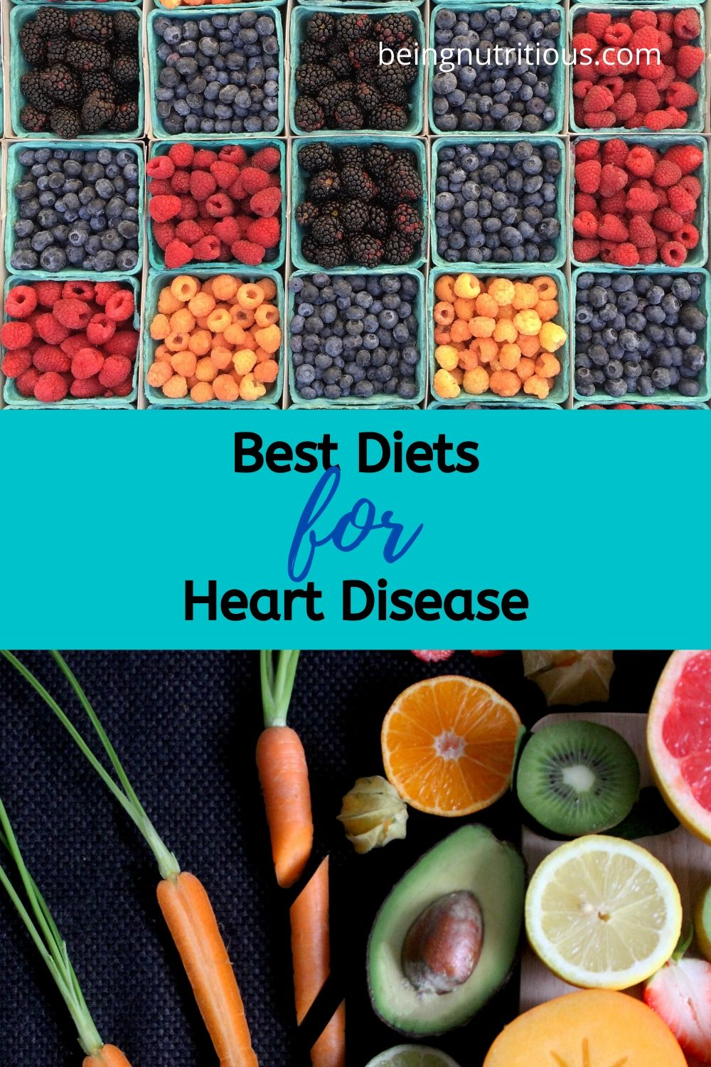 Pinterest image for the Best diets for heart disease