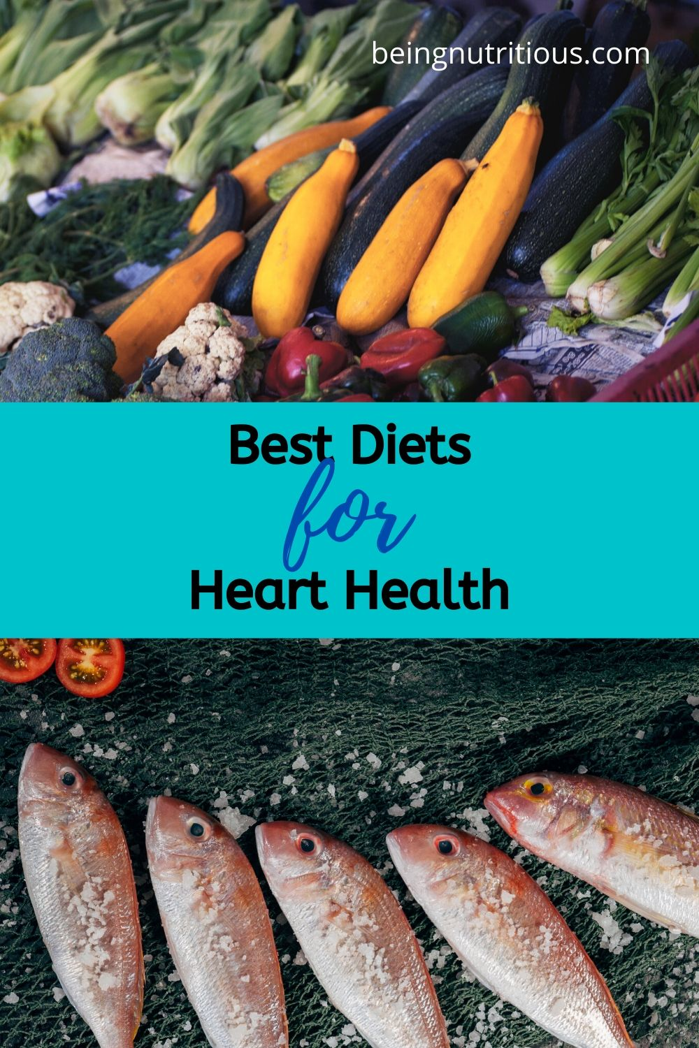 Pinterest image for the Best diets for heart health