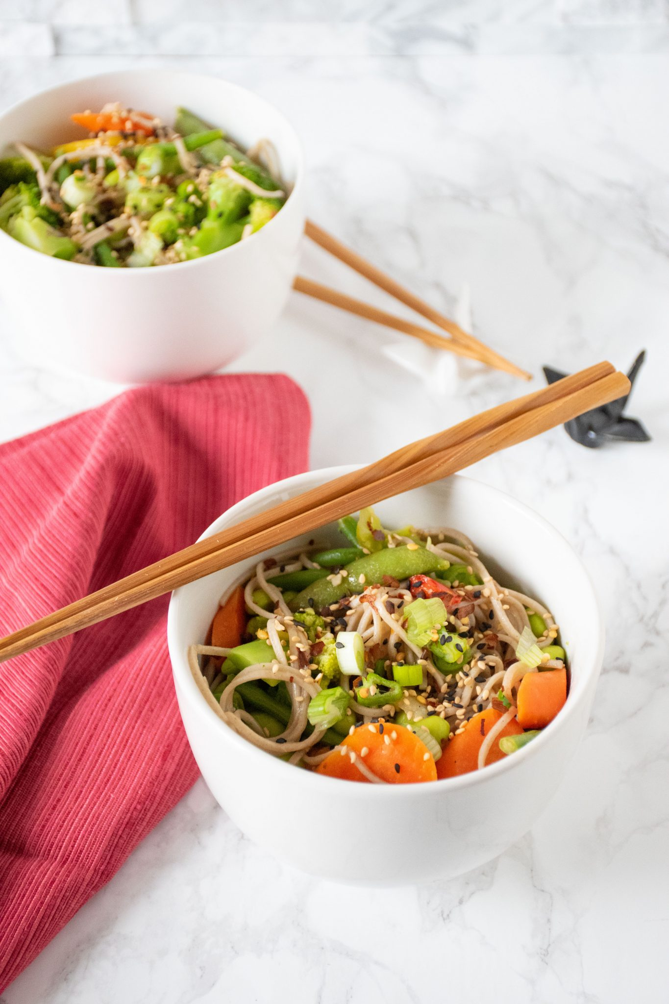 Teriyaki Soba noodle bowls