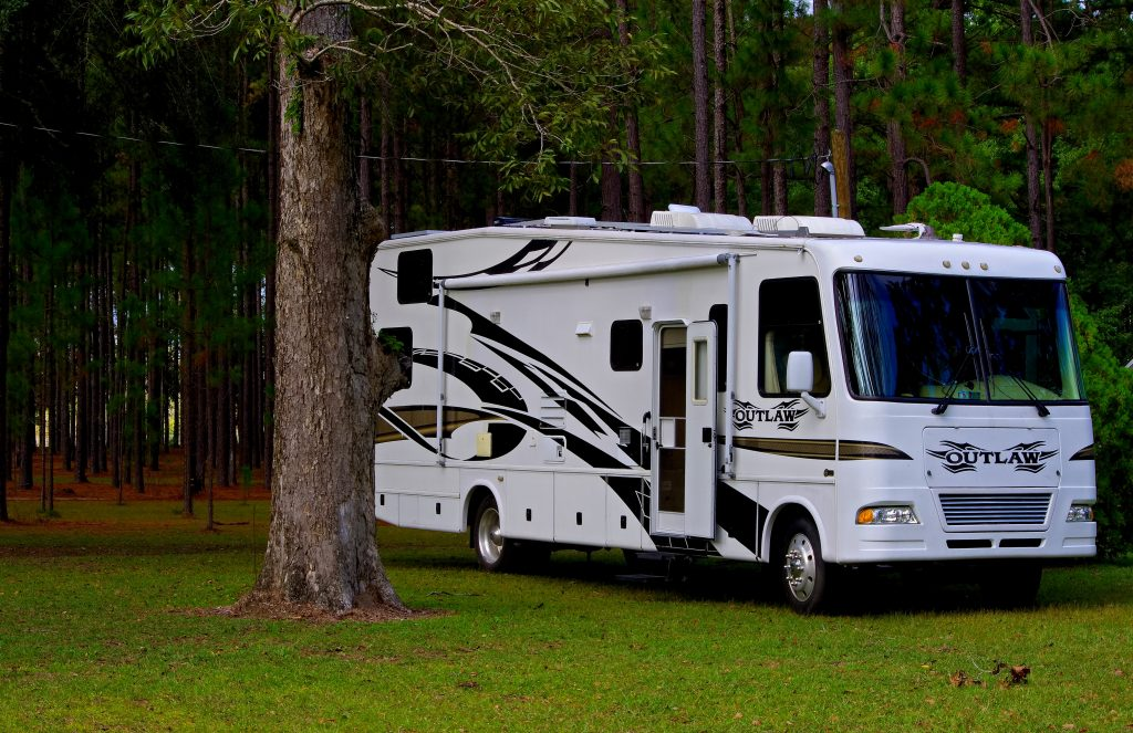 RV in the woods