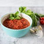 Bowl of marinara sauce
